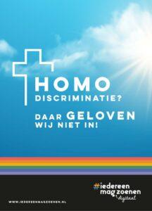 Homo discriminatie? Daar geloven wij niet in!